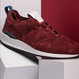 Burgundy Suede New Balance 997 Sneakers